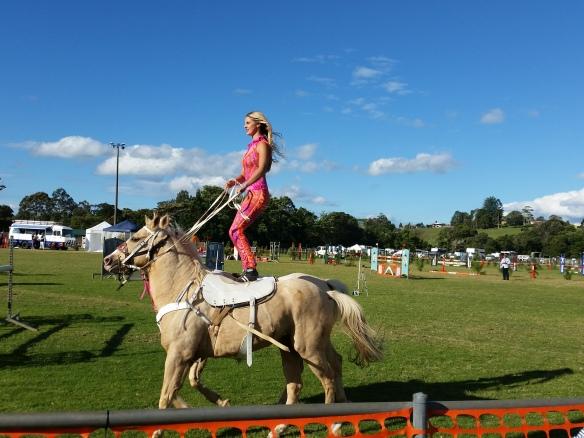 horse riding stunts
